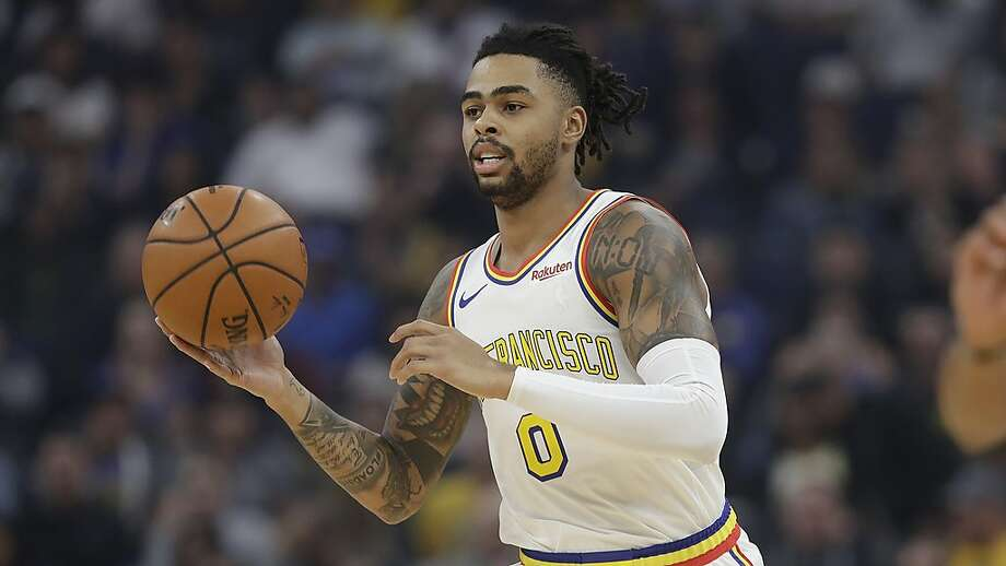 Golden State Warriors guard D'Angelo Russell against the San Antonio Spurs during an NBA basketball game in San Francisco, Friday, Nov. 1, 2019. Photo: Jeff Chiu / Associated Press