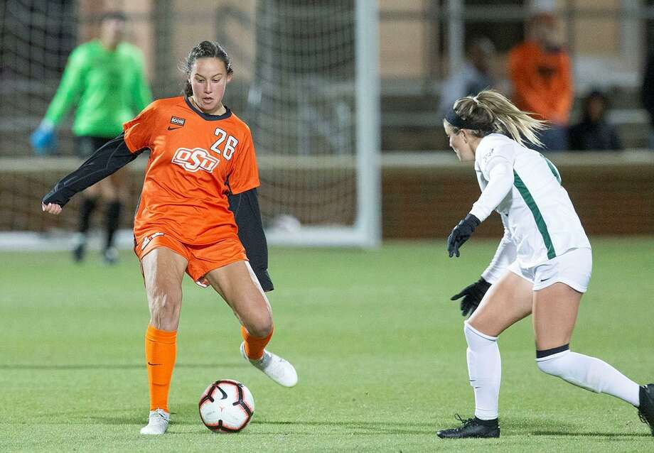 Oklahoma State soccer player Kimberly Rodriguez (26). Photo: Oklahoma State Athletics / Oklahoma State University