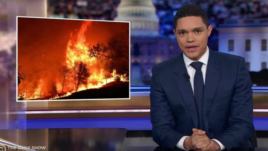 The Daily Show with Trevor Noah explores the topic of inmate firefighters on November 5, 2019. Photo: The Daily Show