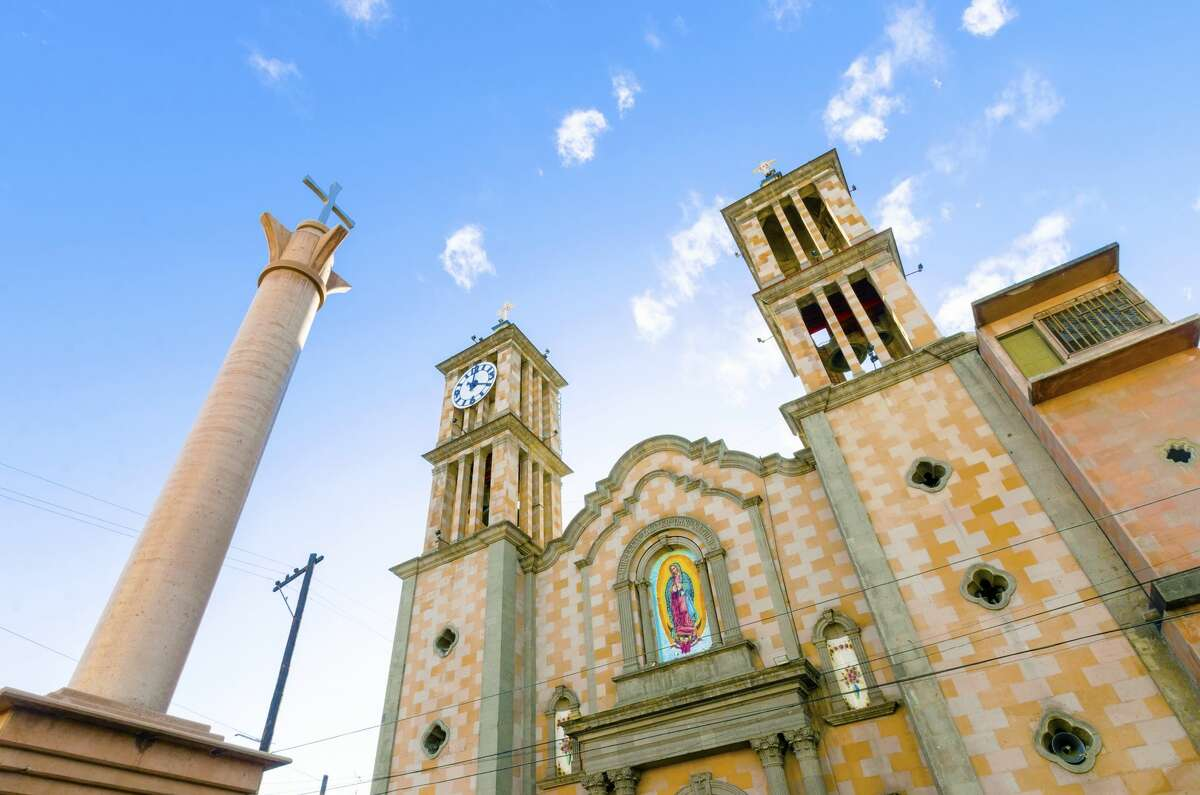 The Catedral de Nuestra Senora de Guadalupe, the first catholic church in Tijuana, Mexico, of the Lady of Guadalupe.