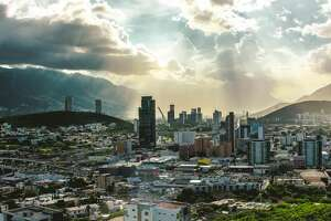 A panoramic view of the city of Monterrey, Mexico.