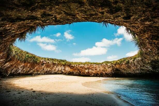 The hidden beach in Marietas Islands, Puerto Vallarta. Mexico.
