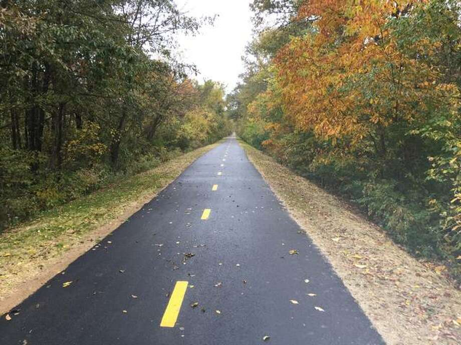 Madison County Transit has completed $771,000 worth of work on a 2.7-mile segment of the Quercus Grove Trail, which runs from Hazel Road to Jerusalem Road, north of Edwardsville, including paving, improved shoulders and new signage.