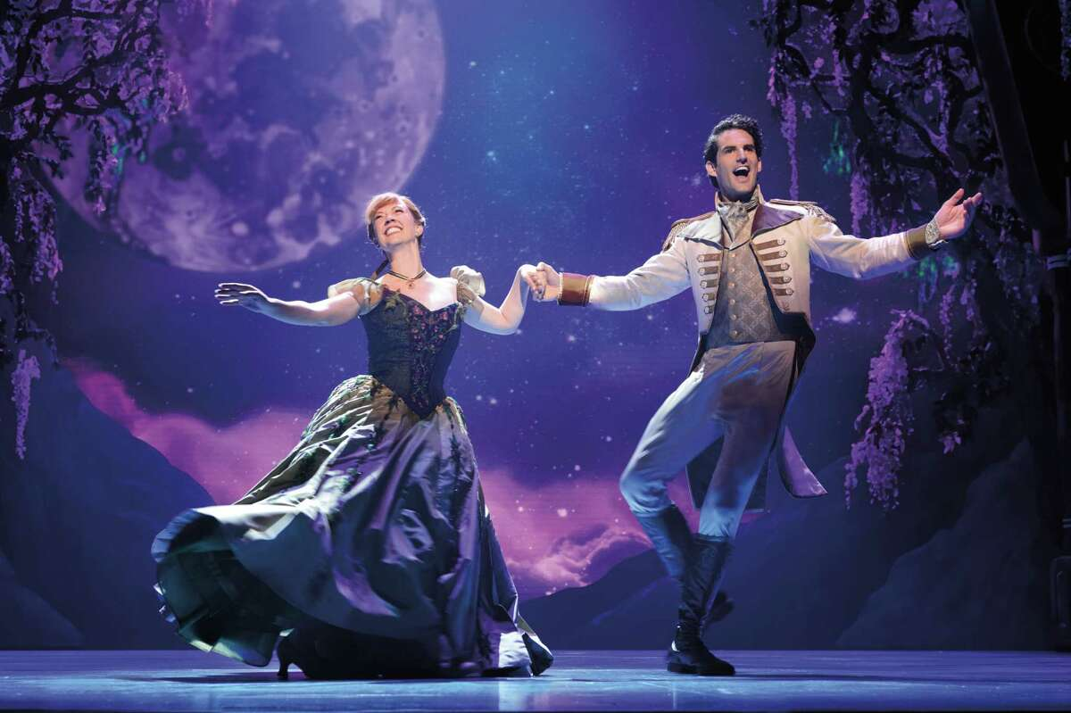 """A scene from the new tour of the Broadway musical """"Frozen,"""" launching at Proctors in Schenectady. (Photo by Matthew Murphy for Frozen/Disney Theatricals.)"""
