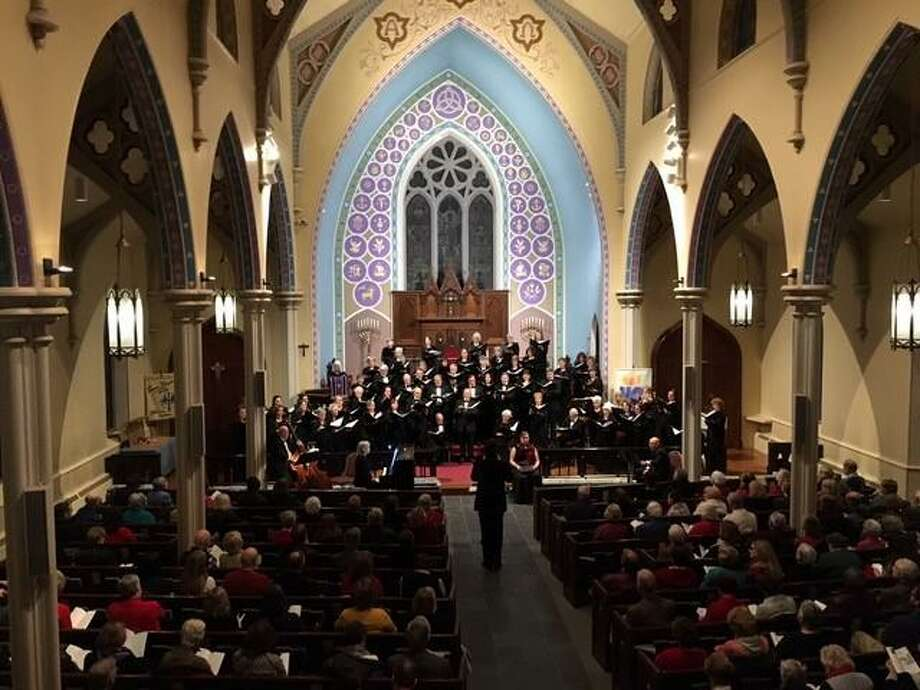 "The Southbury-based Connecticut Choral Society is presenting ""Canticles of Thanksgiving,"" a celebration of songs about unity, gratitude and peace, at Trinity Episcopal Church in Newtown on November 23 and at North Congregational Church in Woodbury on November 24. Photo: Connecticut Choral Society / Contributed Photo"