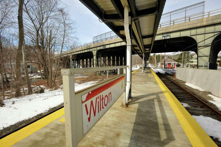 Plans for a pedestrian bridge are back on to easily allow people to get from the Wilton train station to the center of town. Photo: Jason Rearick / The Stamford Advocate / The News-Times