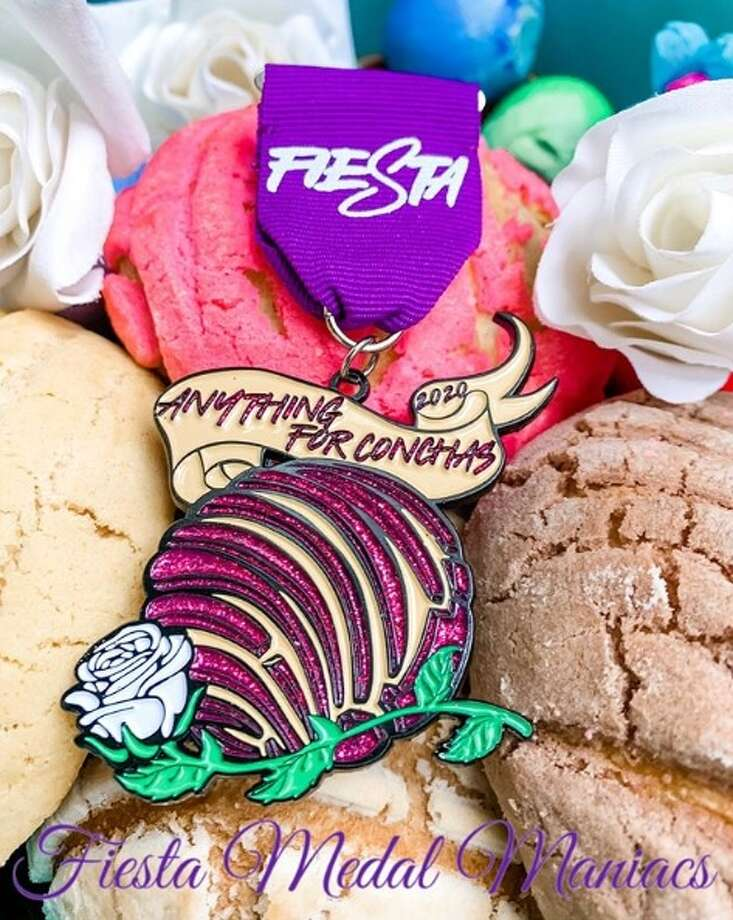 """Fiesta Medal Maniacs unveiled their """"Anything For Conchas"""" medal last week. This is just one of many the organization will release until their """"big medal reveal"""" event that will be held on Jan. 15 at Brick at Blue Star Arts Complex. Photo: Fiesta Medal Maniacs"""