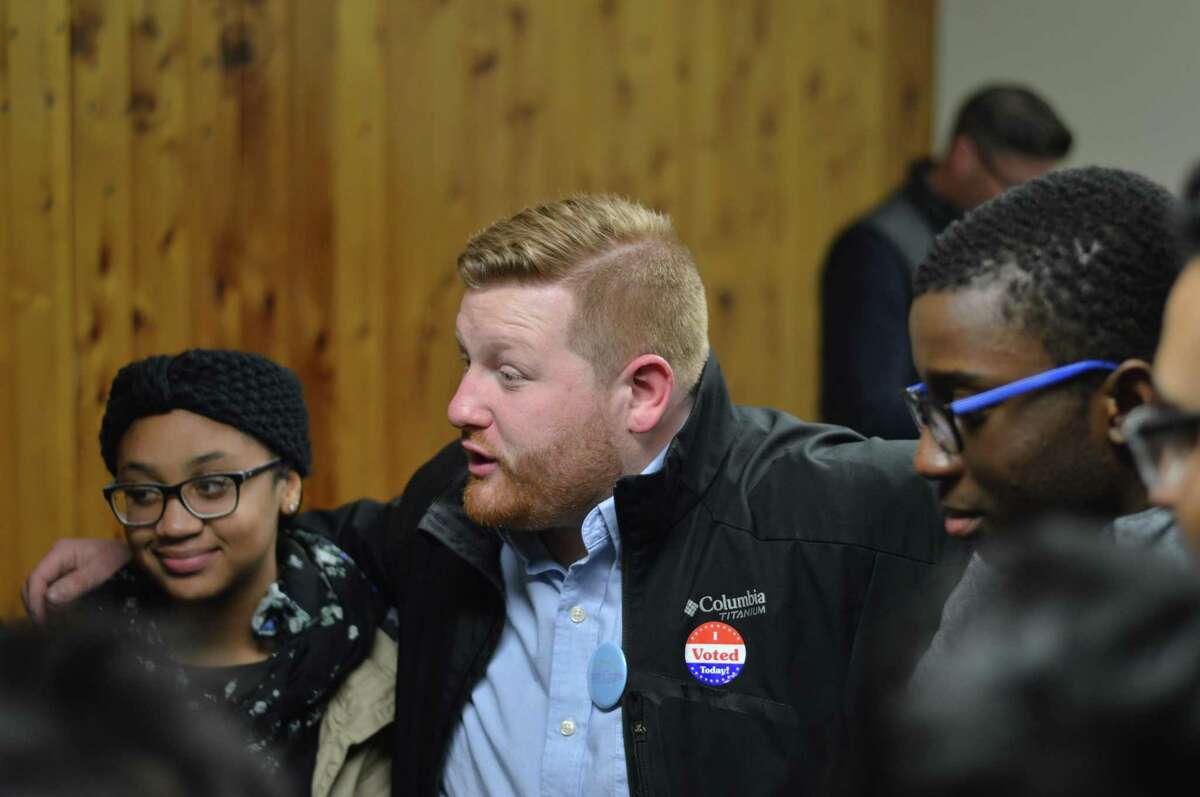 Hamden Councilman at-large Brad Macdowall won his second term Nov. 5, 2019.