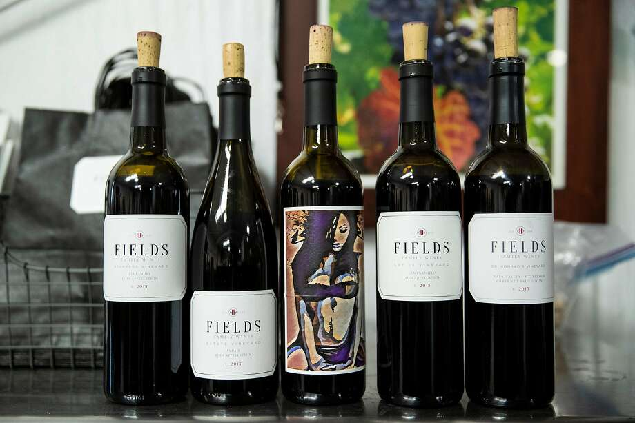 A selection of bottles at Fields Family Wines in Lodi. Photo: Laura Morton / Special To The Chronicle
