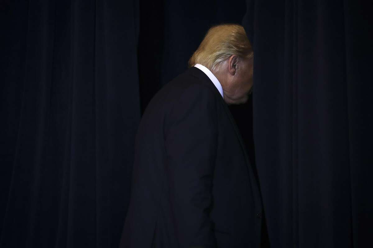 *** 2019 News Year in Focus *** NEW YORK, NY - SEPTEMBER 25: President Donald Trump exits a press conference on the sidelines of the United Nations General Assembly on September 25, 2019 in New York City. Speaker of the House Nancy Pelosi announced yesterday that the House will launch a formal impeachment inquiry into President Trump. (Photo by Drew Angerer/Getty Images)