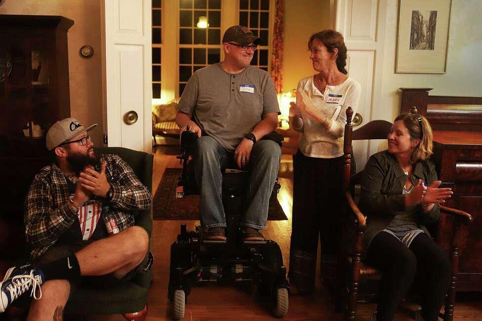 Josh Geartz with Mary Judd (photo by Rick Loomis)