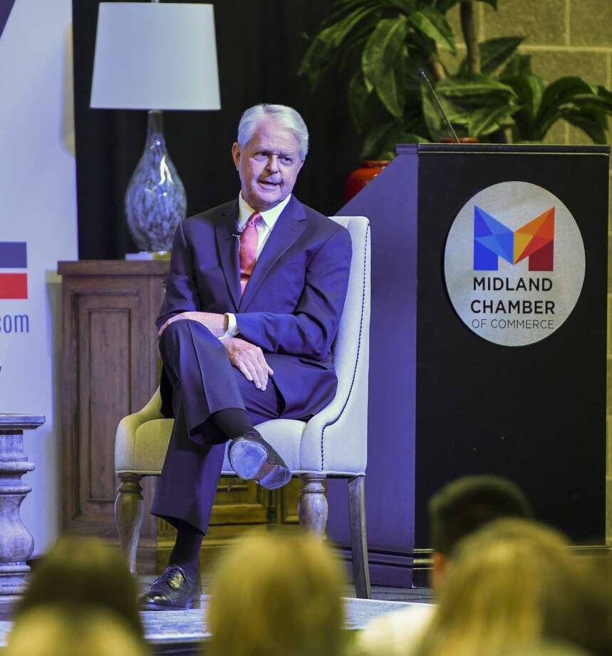 Grant Billingsley, executive director of the Scharbauer Foundation, speaks at the State of the Economy on Wednesday, Nov. 6, 2019 at the Bush Convention Center. Photo: Jacy Lewis/Reporter-Telegram