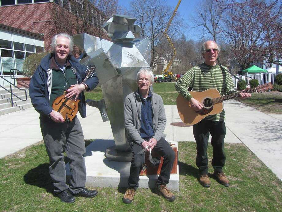 Trio WMD — Will, Mat and Dan — will perform at Ridgefield Library. Photo: /