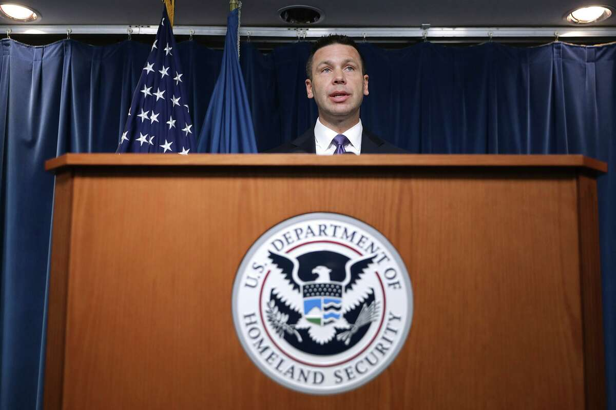Department of Homeland Security acting Secretary Kevin McAleenan during a news conference at the Ronald Reagan Building in Washington, D.C., on August 21, 2019.