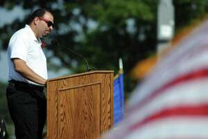 Robert Ayala speaks during Friday's commencement ceremony at Brien McMahon High School on June 21, 2013.