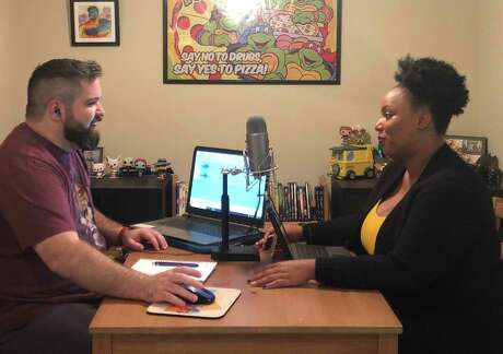 Cody Green and Shayla Williams of the Houston podcast 'Why Was This Ever Cool'