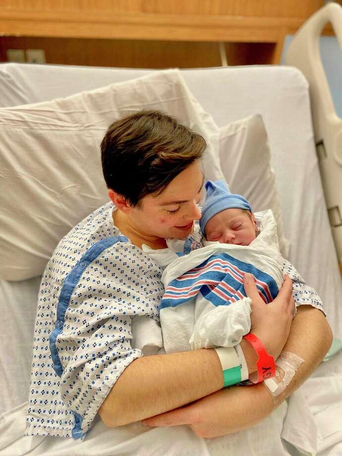 Ellen Cupo, Ward 8 alder-elect, with newborn Hunter Ian Cupo Dunn. Photo: Photo Courtesy Of Ellen Cupo