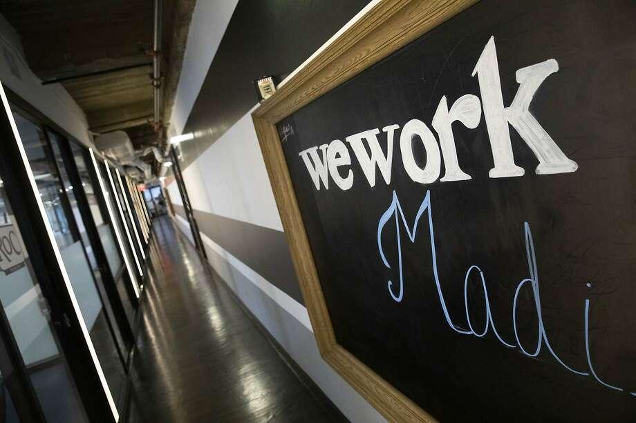 A WeWork office space is shown, Tuesday, Nov. 5, 2019 in New York. (AP Photo/Mark Lennihan) Photo: Mark Lennihan, Associated Press