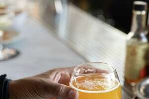 A beer at Black Sands Brewery on Haight Street in San Francisco.