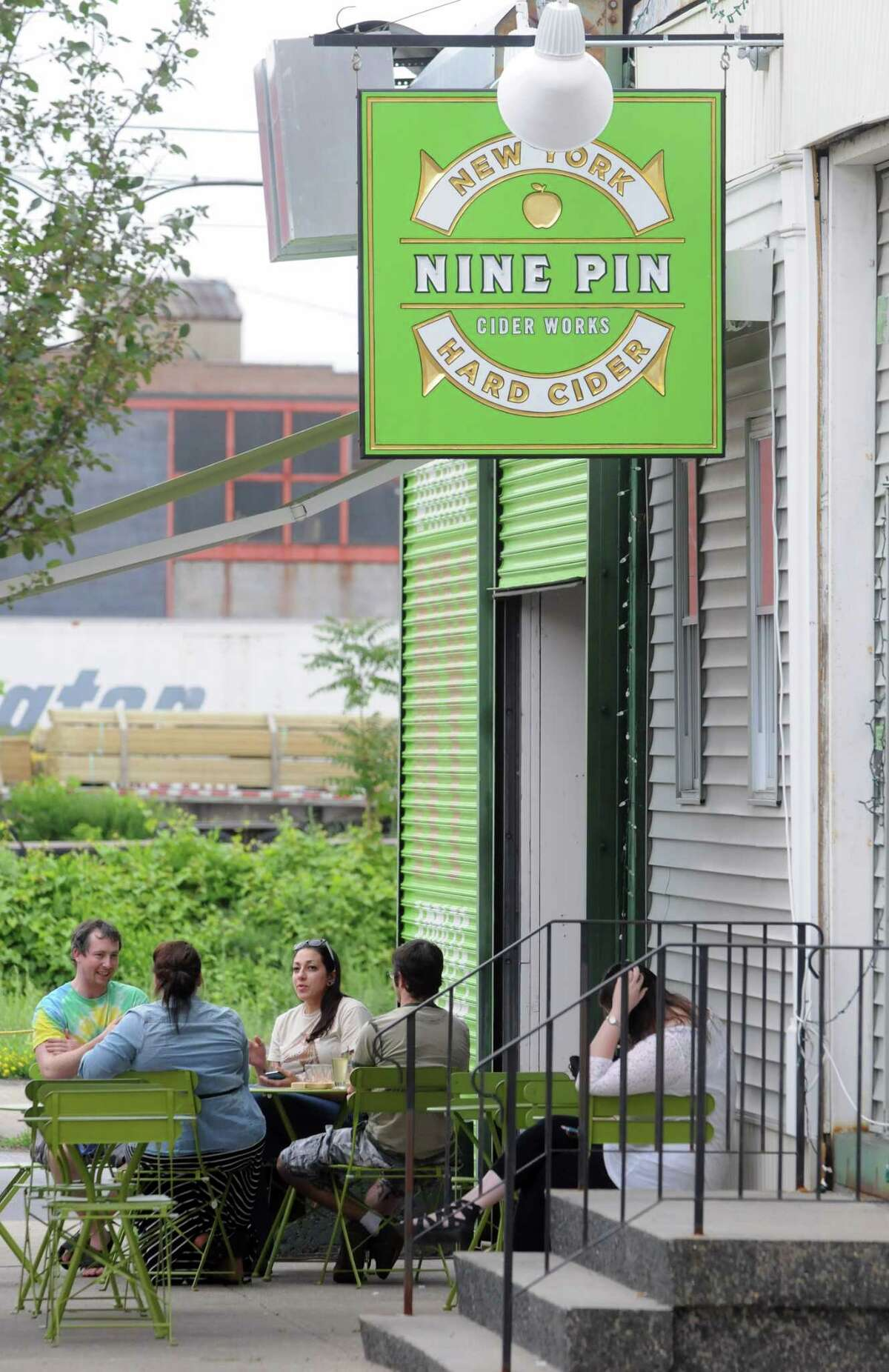 Nine Pin Cider Works in Albany. (Michael P. Farrell/Times Union)
