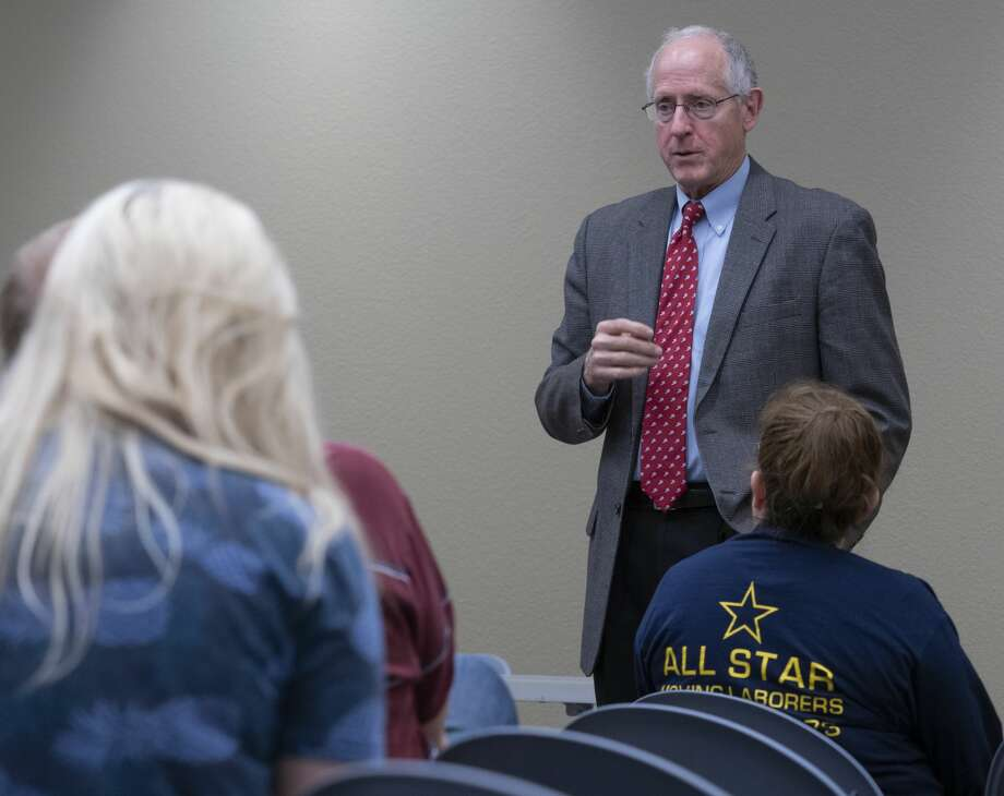 U.S. Rep Mike Conaway speaks 11/06/19 during a town hall meeting at the Midland County Library Centennial branch. Tim Fischer/Reporter-Telegram Photo: Tim Fischer/Midland Reporter-Telegram