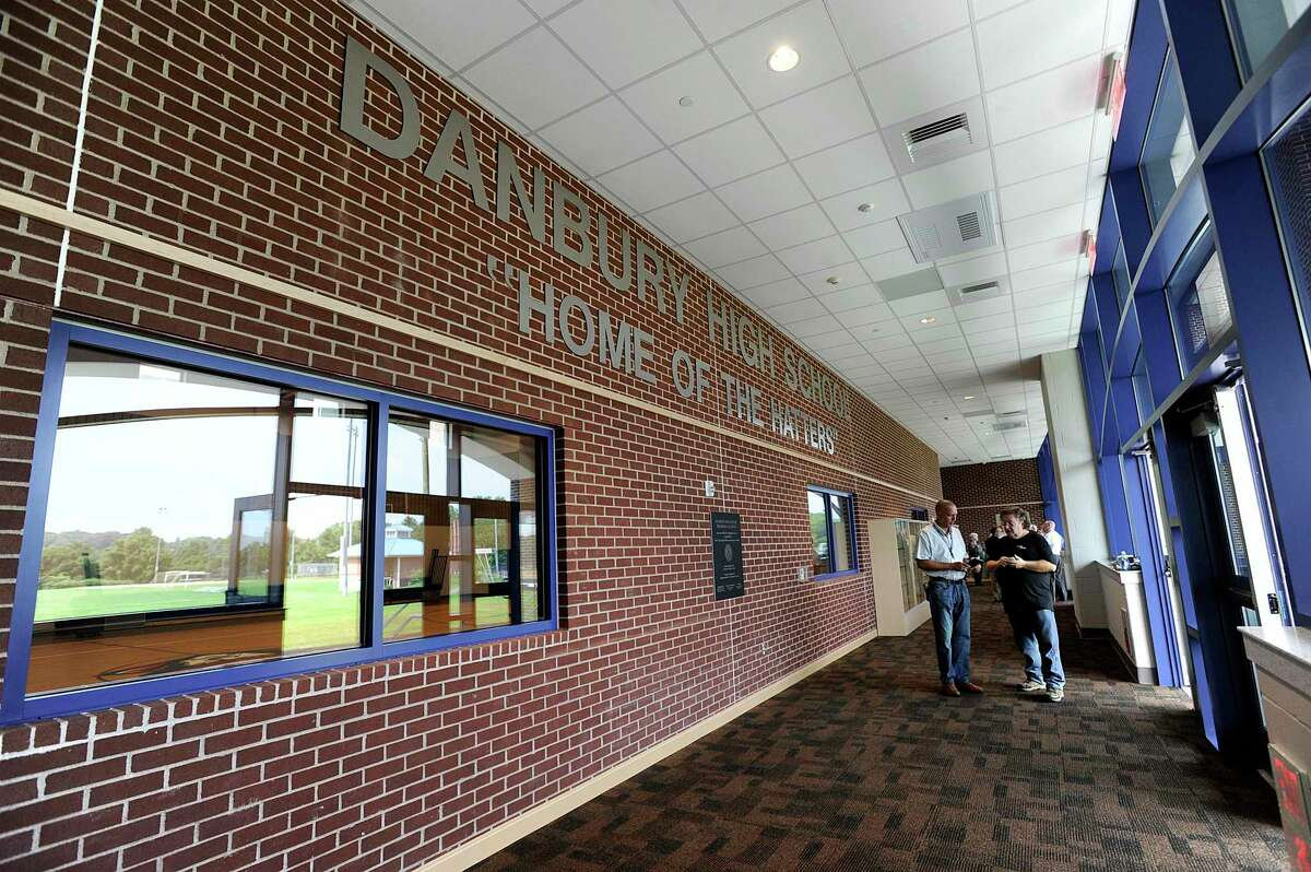 A ribbon-cutting ceremony marked the official opening of a new addition at Danbury High School, Monday, August 27, 2018.
