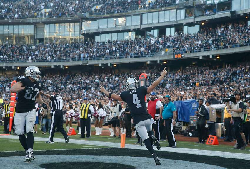 L.A. Chargers minus-1 at Oakland Raiders 27-24