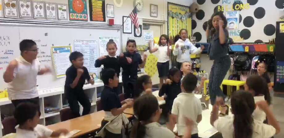 """A second grade teacher at Los Medanos Elementary School riffed on the lyrics of Lizzo's """"Truth Hurts"""" to create a new, uplifting song for her students. The video has amassed over 130,000 views. Photo: Courtesy Of Pittsburg Unified School District"""