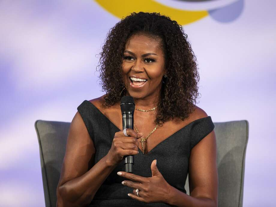 Former first lady Michelle Obama may soon have a school named after her in Richmond. Photo: Ashlee Rezin Garcia, Associated Press