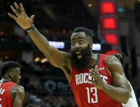 Despite connecting on only 27 percent of his 3s, Rockets guard James Harden is the NBA's leading scorer at 36.5 points per game.