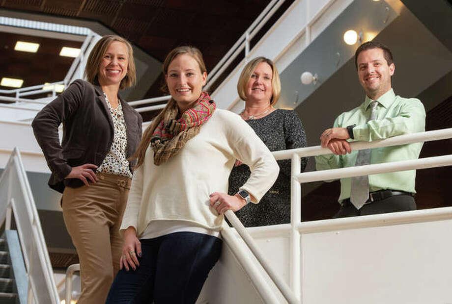 (L-R): Elizabeth McKenney, Chelsea Ritter, Cindy Steel and Adam Garrett. Photo: For The Intelligencer