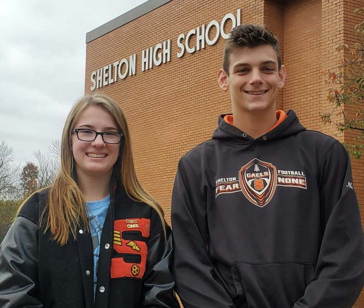 Haley Oko and David Niski have been named Shelton's SCC Scholar Athlete for the fall season.