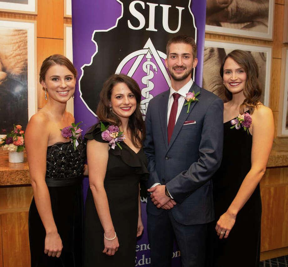 SIU School of Dental Medicine Dean's Scholarship awardees Karolina Migus, Mary Beth Di Lisio, Adam Falasz and Alexis Polczynski. Photo: Courtesy Of SIU School Of Dental Medicine