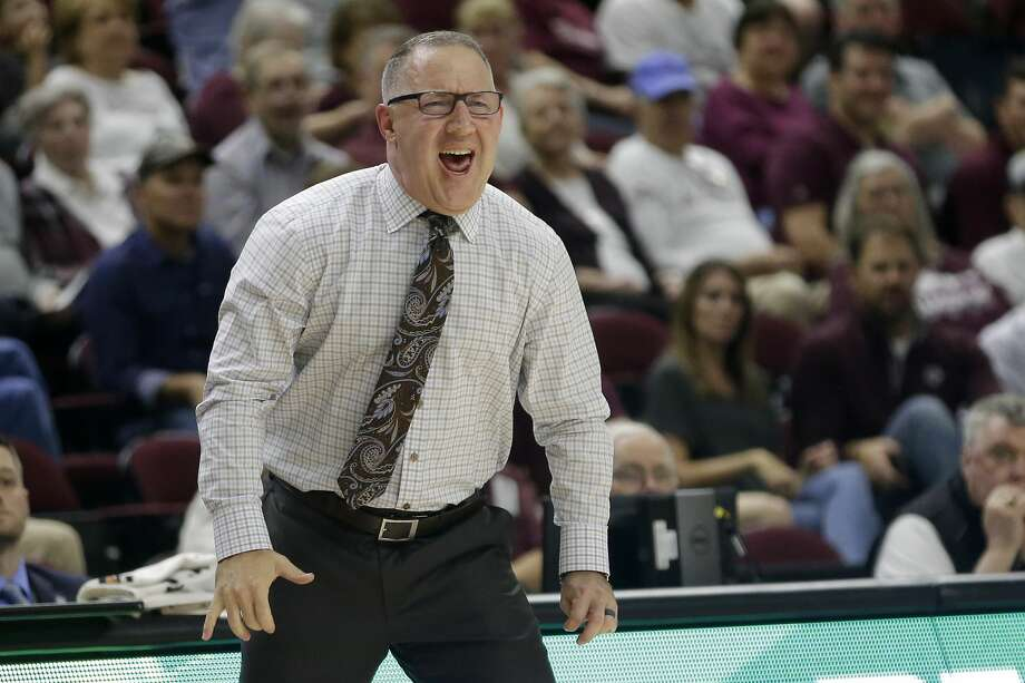 Texas A&M head coach Buzz Williams reacts after a turnover against Northwestern State during the first half of an NCAA college basketball game Wednesday, Nov. 6, 2019, in College Station, Texas. (AP Photo/Sam Craft) Photo: Sam Craft/Associated Press