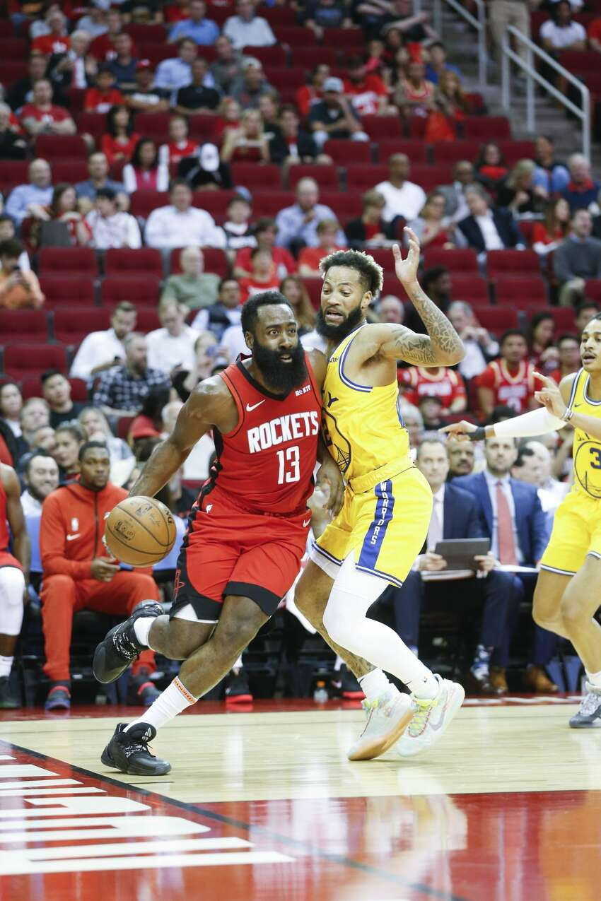 Houston Rockets host the Golden State Warriors at the Toyota Center on Wednesday, Nov. 6, 2019 in Houston.