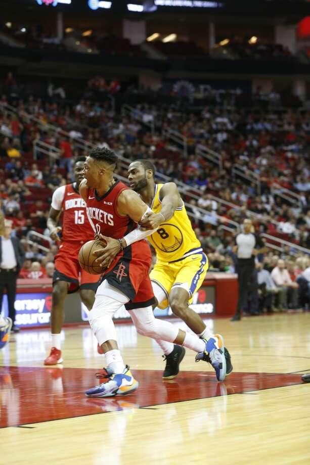 Houston Rockets host the Golden State Warriors at the Toyota Center on Wednesday, Nov. 6, 2019 in Houston. Photo: Elizabeth Conley/Staff Photographer