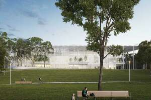 Houston Endowment has chosen Kevin Daly Architects, with TLS Landscape Architecture and Productora, to design its new office building planned on a parcel near Spotts Park.