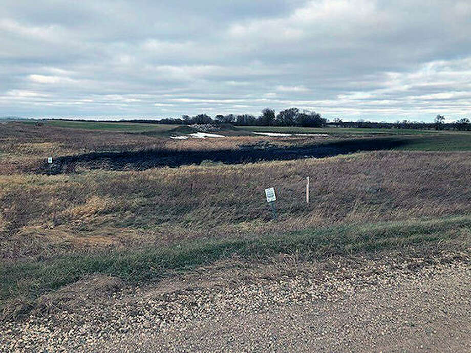 This is the land affected by a Keystone oil pipeline leak near Edinburg, North Dakota. Regulators said TC Energy's Keystone pipeline leaked an estimated 383,000 gallons of oil in northeastern North Dakota, though the cause was still under investigation. Photo: Department Of Environmental Quality | Taylor DeVries