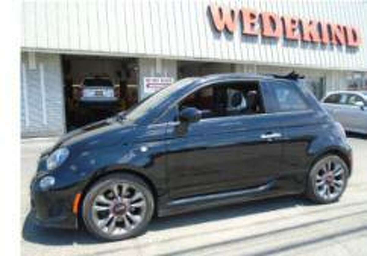 Police are investigating a hit and run crash which occurred on Railroad Street in front of the former New Milford train station around 5 p.m. on Wednesday, Nov. 6, 2019. The evading vehicle was described as a dark colored, possibly blue or black, Fiat 500. Note: This is not the actual vehicle in the crash.