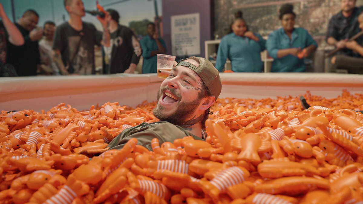 Post Malone visited Movietopia in Houston after a Toyota Center show.