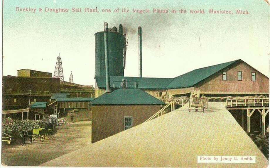 This 1890s Jenny Smith photograph shows the Buckley and Douglas Salt Plant which was one of the largest in the world.