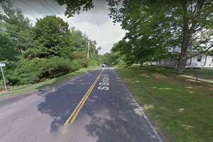 The intersection of South Britain Road and Coughlin Drive in Southbury, Conn.
