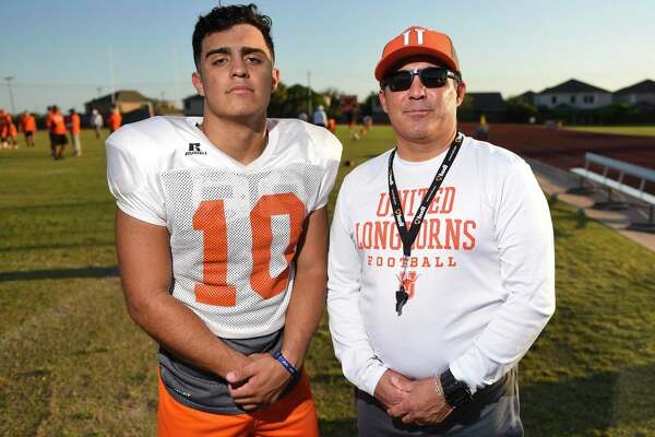 Wayo Huerta (left) and Eddie Huerta (right) are nearing their final regular season game together as a son/coach tandem.