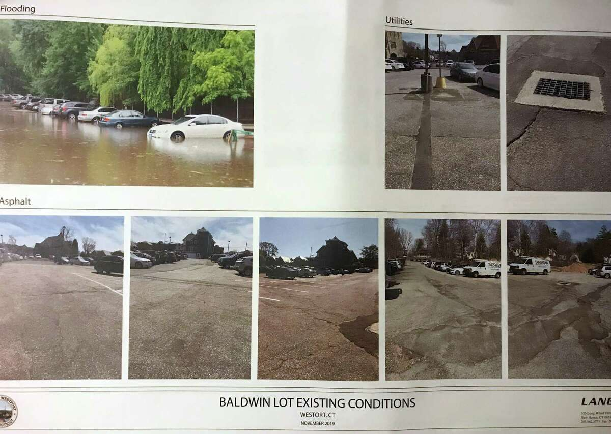 Existing conditions at Baldwin Parking Lot.