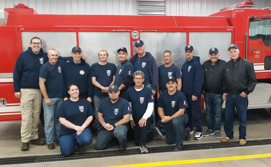 Manistee Township Fire Department Pictured (front row, left to right) are Shelby Fraly, Joe Wells, Jim Mowry and Chuck Barron; (back row) Jim Henderson, Sam Koscinski, Gordon Grant, Jim Schoedel, Dave Pete, Tom Johnson, Brian Forbes, Dan Lijewski, Jack Dinsen and Jim Edmondson.  p.p1 {margin: 0.0px 0.0px 12.0px 6.0px; line-height: 15.0px; font: 12.0px Verdana; color: #313131; -webkit-text-stroke: #313131; background-color: #ffffff} span.s1 {font-kerning: none}  Not pictured: Steve Bernatche, Mark Szynski, Tom Guenthardt, Nick Berensten, Matt Cross, Megan Grant, Ben Blakeslee, Ben Maat and David Cook. Photo: Submitted Photo