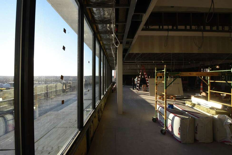 Interior of a new banquet and meeting facility being constructed on the Hedley Park Place rooftop by First Columbia on Wednesday, Nov. 6, 2019, in Troy, N.Y. (Will Waldron/Times Union)