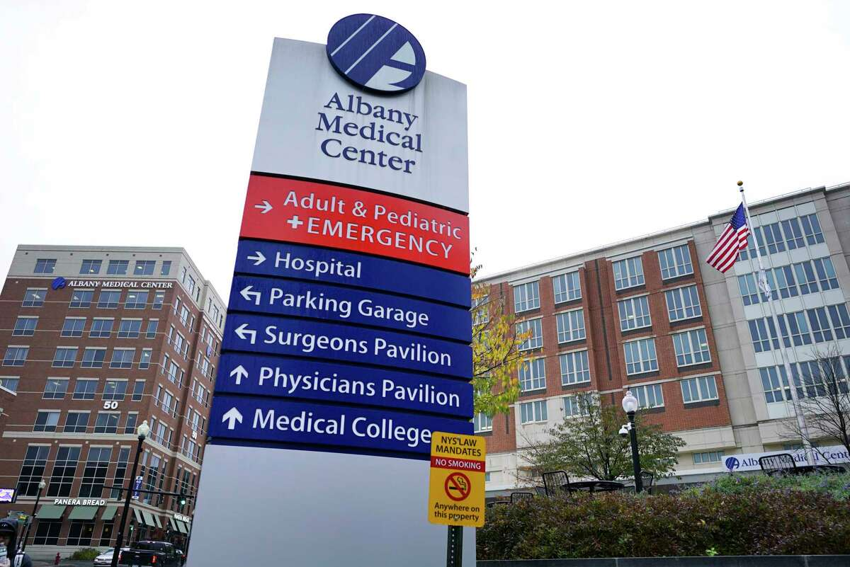 A view of Albany Medical Center on Thursday, Nov. 7, 2019, in Albany, N.Y. A nonprofit ranking shows New York's hospitals among worst performing in country. Albany Med also scored low on a federal ranking. (Paul Buckowski/Times Union)