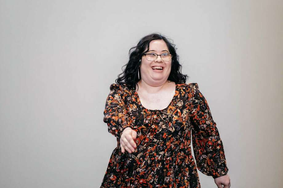 Model Robin Rezanour shows off during a fashion show on Oct. 27 at Audi Central. Photo: Courtesy Of Friends Of Down Syndrome