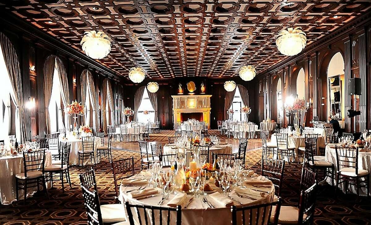 The Julia Morgan Ballroom in San Francisco prepares for a wedding.~~