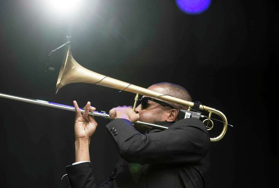 "Anti-Defamation League (ADL) presents Trombone Shorty and Orleans Avenue who headlines ""VOICES: A Show of Unity,"" Klein Memorial Auditorium, on Nov. 9, 8 p.m. Musician, actor and Tonight Show with David Letterman band leader Paul Shaffer will emcee. Photo: Jessica Christian / The Chronicle / ONLINE_YES"